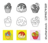vector design of confectionery... | Shutterstock .eps vector #1399879589