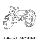 aqua cycle water trike tricycle ... | Shutterstock .eps vector #1399880093