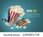 cinema and movie poster design. ... | Shutterstock .eps vector #1399891739