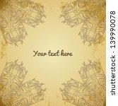 invitation card on grunge... | Shutterstock .eps vector #139990078