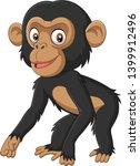 Cute Baby Chimpanzee Cartoon On ...