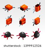 set of abstract symbols of... | Shutterstock .eps vector #1399912526