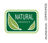 natural product icon. organic... | Shutterstock .eps vector #1399919933