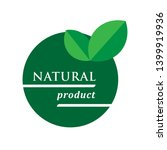 natural product icon. organic... | Shutterstock .eps vector #1399919936