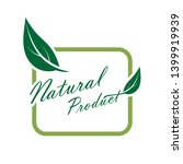 natural product icon. organic... | Shutterstock .eps vector #1399919939