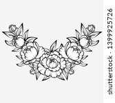 branch of roses on a white... | Shutterstock . vector #1399925726