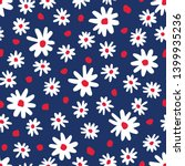 Bold Graphic Abstract Daisies...