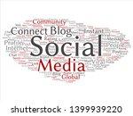 vector conceptual social media... | Shutterstock .eps vector #1399939220