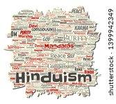 vector conceptual hinduism ... | Shutterstock .eps vector #1399942349