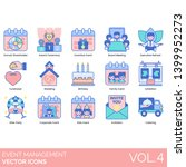 event management icons... | Shutterstock .eps vector #1399952273