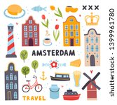 amsterdam travel illustrations... | Shutterstock .eps vector #1399961780