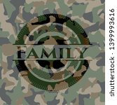 family on camouflaged pattern.... | Shutterstock .eps vector #1399993616