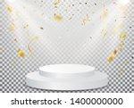 winner podium with gold... | Shutterstock . vector #1400000000