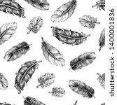 beautiful seamless hand drawn... | Shutterstock .eps vector #1400001836