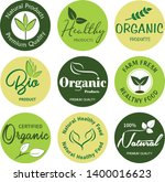 organic food  farm fresh and... | Shutterstock .eps vector #1400016623