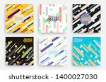 set of trendy cards with flat...   Shutterstock .eps vector #1400027030