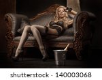 picture of lovely blonde in... | Shutterstock . vector #140003068