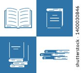 set icons of books in flat... | Shutterstock .eps vector #1400030846