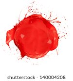 paint splashes circle isolated... | Shutterstock . vector #140004208