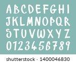 alphabet whit number good for... | Shutterstock .eps vector #1400046830