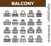 House Balcony Forms Linear Vector Icons Set. Fashionable Balcony Thin Line Contour Symbols Pack. Modern Architecture Pictograms Collection. Luxurious Veranda Decor. Terrace Outline Illustrations