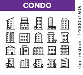 dwelling house  condo linear... | Shutterstock .eps vector #1400051606