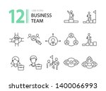 business team icons. line icons ... | Shutterstock .eps vector #1400066993