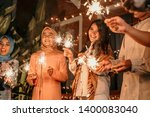 playing firework to celebrate... | Shutterstock . vector #1400083040