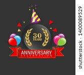 30 years anniversary   modern... | Shutterstock .eps vector #1400089529