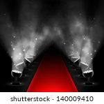 red carpet with spotlights. eps ... | Shutterstock .eps vector #140009410