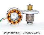 stepper motor  disassembled ...   Shutterstock . vector #1400096243