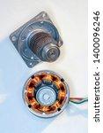 stepper motor  disassembled ...   Shutterstock . vector #1400096246