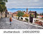 Tourist Woman In Hat With...
