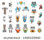 vector set. people and fitness... | Shutterstock .eps vector #1400105840