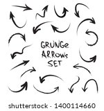 grunge arrows on white... | Shutterstock .eps vector #1400114660