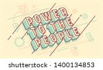 """typographic banner with """"power... 