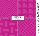 set of four seamless patterns.... | Shutterstock .eps vector #1400143436