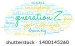generation z word cloud on a... | Shutterstock .eps vector #1400145260