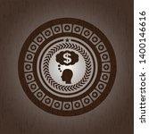 thinking in money icon inside... | Shutterstock .eps vector #1400146616