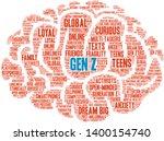 gen z brain word cloud on a... | Shutterstock .eps vector #1400154740