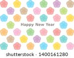 new year card with japanese... | Shutterstock .eps vector #1400161280