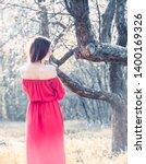 beautiful young woman wearing... | Shutterstock . vector #1400169326