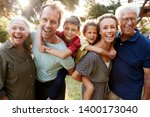 outdoor portrait of multi... | Shutterstock . vector #1400173040
