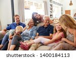 multi generation family sitting ... | Shutterstock . vector #1400184113