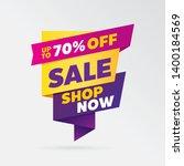 vector sale banner template... | Shutterstock .eps vector #1400184569