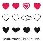 love heart symbol. valentine... | Shutterstock .eps vector #1400193446