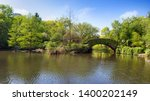 view of spring landscape in... | Shutterstock . vector #1400202149