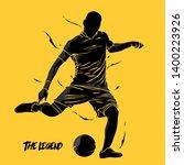 football soccer splash... | Shutterstock .eps vector #1400223926