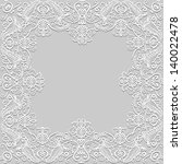 White Floral Paper Lace Frame