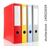 bright office folders isolated... | Shutterstock . vector #140023039